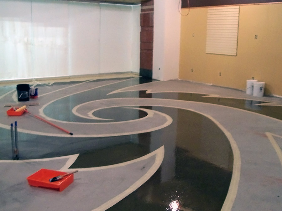 Commercial Coating Epoxy Quartz Retail Store