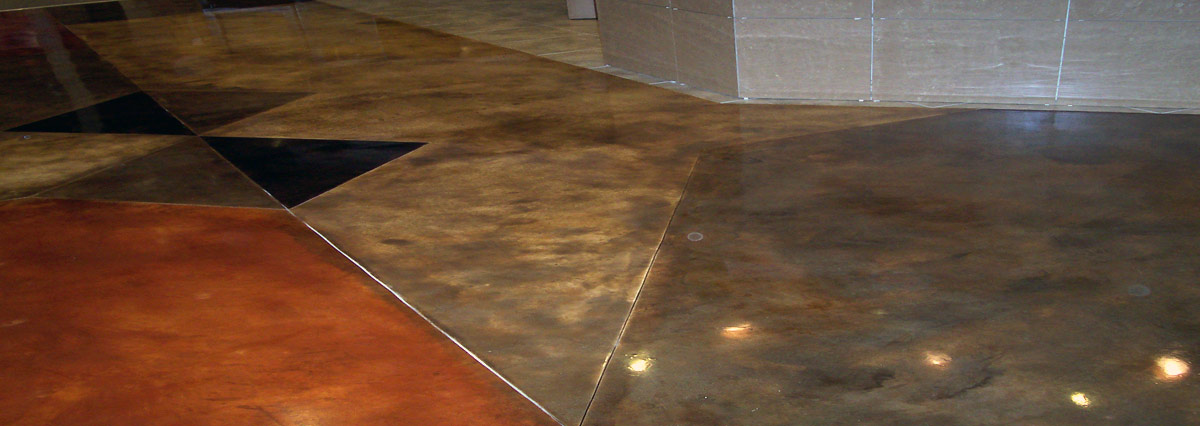 Commercial Coating Acid Stain Arizona Wholesale Showroom