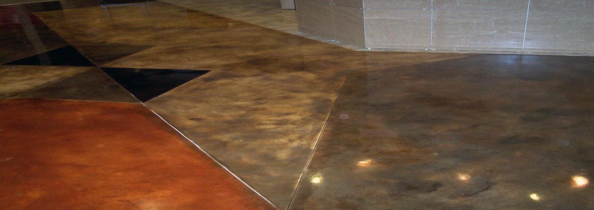 Commercial Coating Acid Stain Arizona Wholesale Showroom
