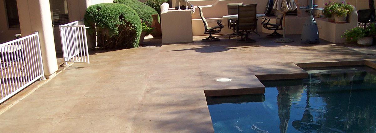 Residential Coating Stamp Pool Deck
